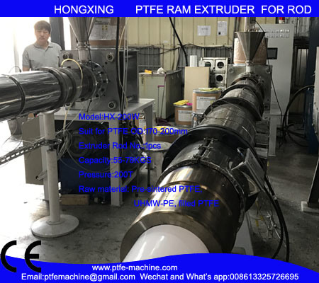 Hx-200W Teflon RAM Extrusion for PTFE Rod