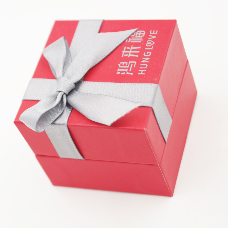 Well-Received Paper Gift Jewelry Box with Ribbon Bow (J86-AX)