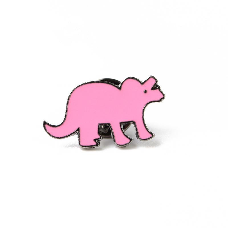 Dinosaur Enamel Pin Badge Fashion Shirt Jacket Lapel Kids Fun Accessories