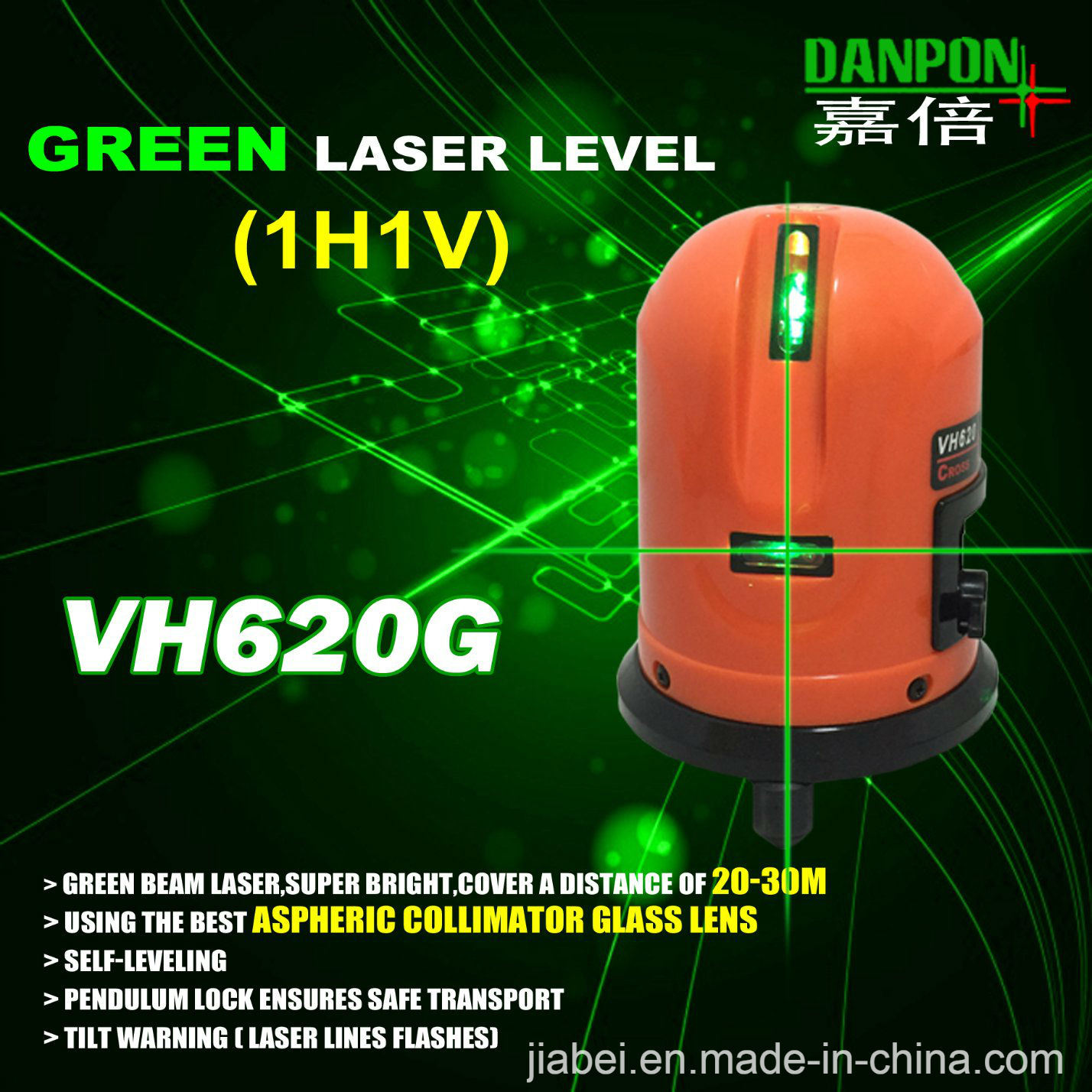 Danpon Laser Level Tool Laser Liner Vh620g Green Beam