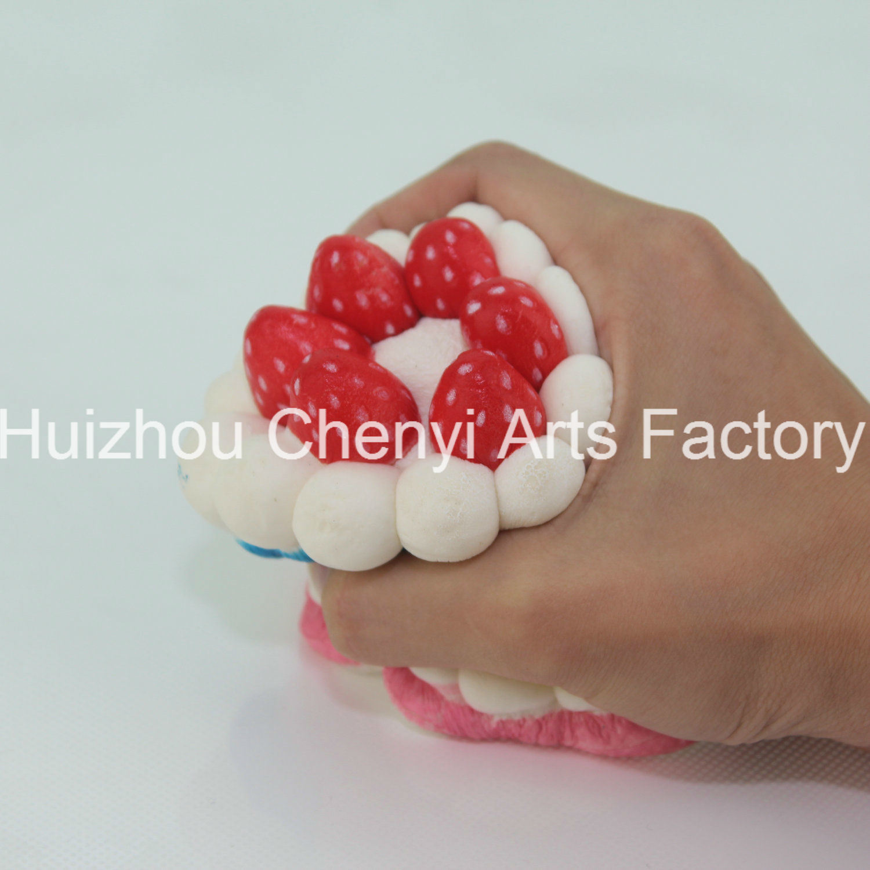 OEM Slow Rebound Colorful Food Shape PU Foam Cake