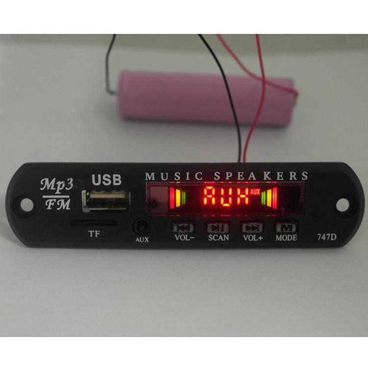 5V/12V Audio MP3 Decoder Board with TF Card