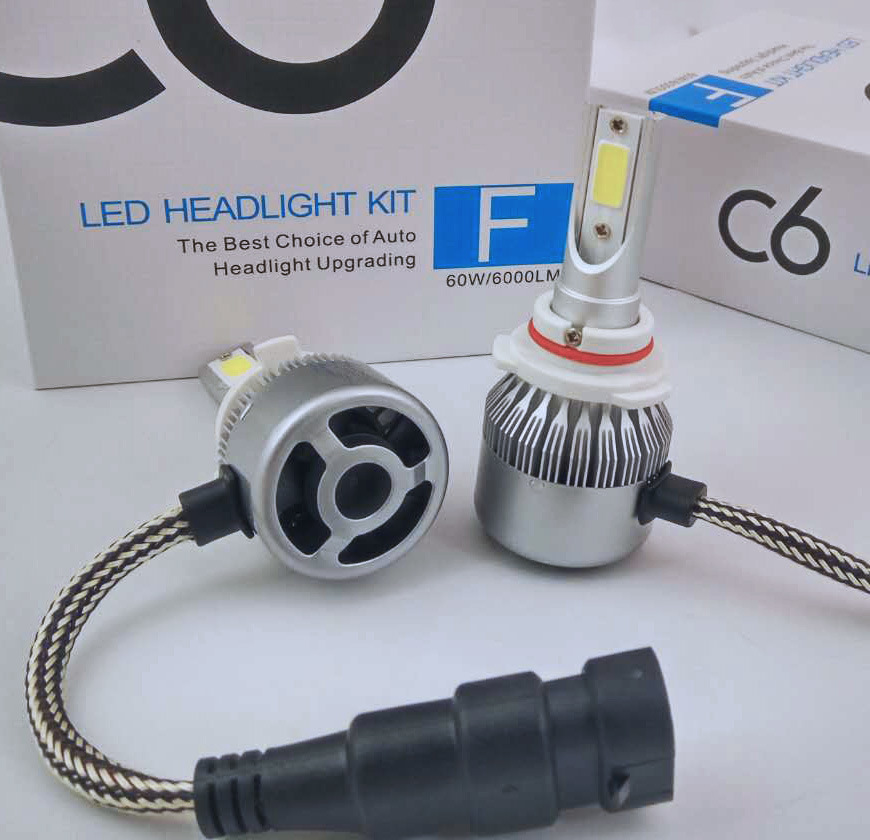 C6 COB Cars LED Headlight Motorcycle LED Headlight Auto Parts H4 H13 9004 (9007) H1 H3 H7 H8 H9 H11 9005hb4 9006hb3 880 881 H15 9012