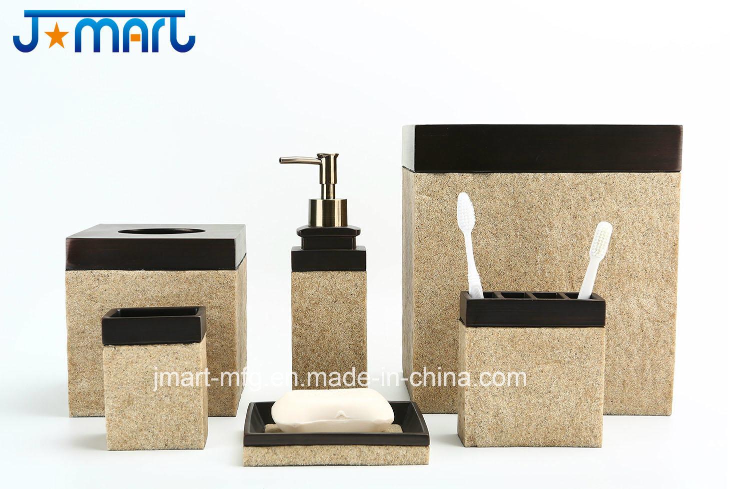 Stone Finish Polyresin Bathroom Accessory