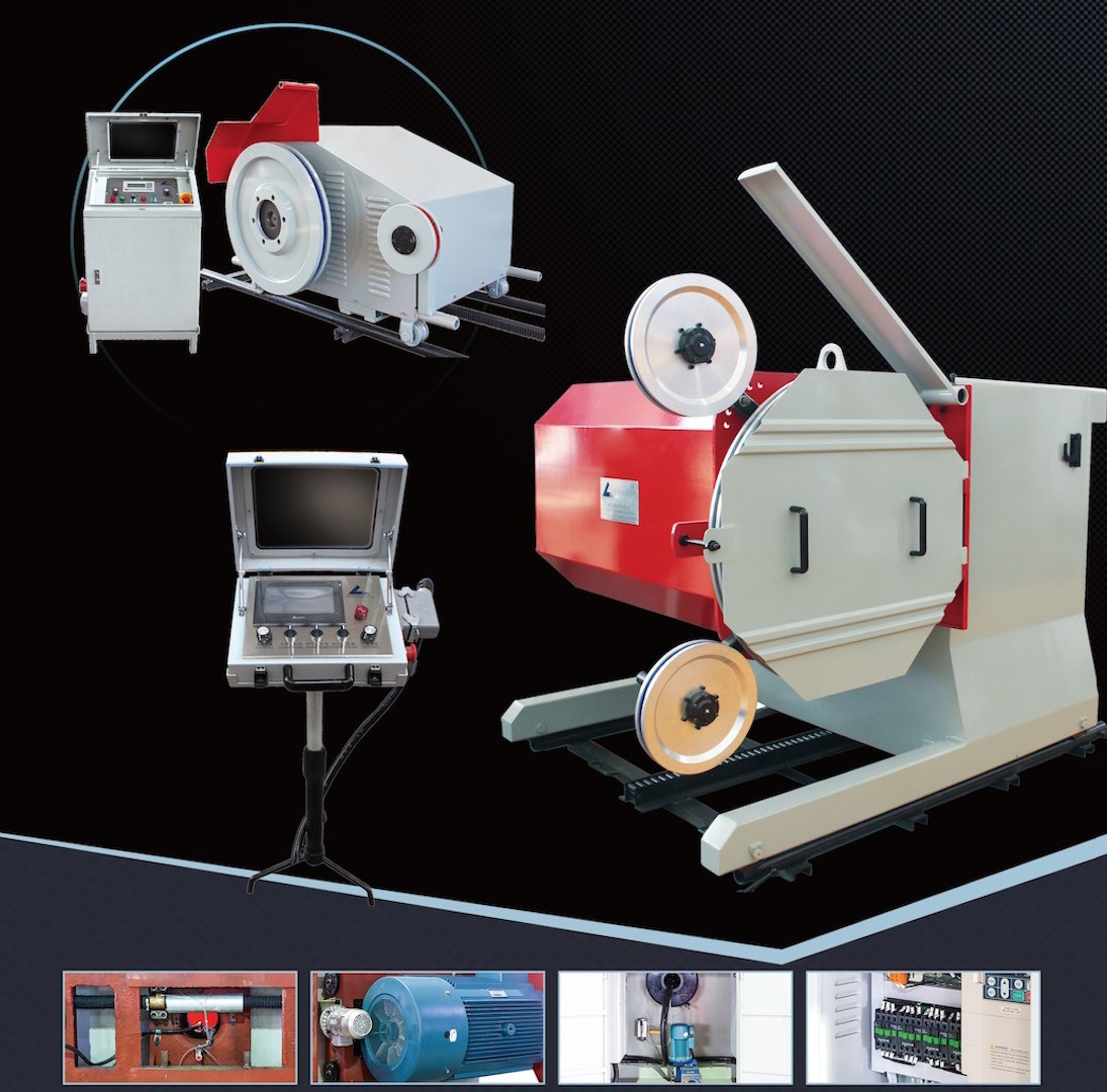 11kws-75kws Electrical Wire Saw Machine for Quarrying and Block Trimming of Natural Stone