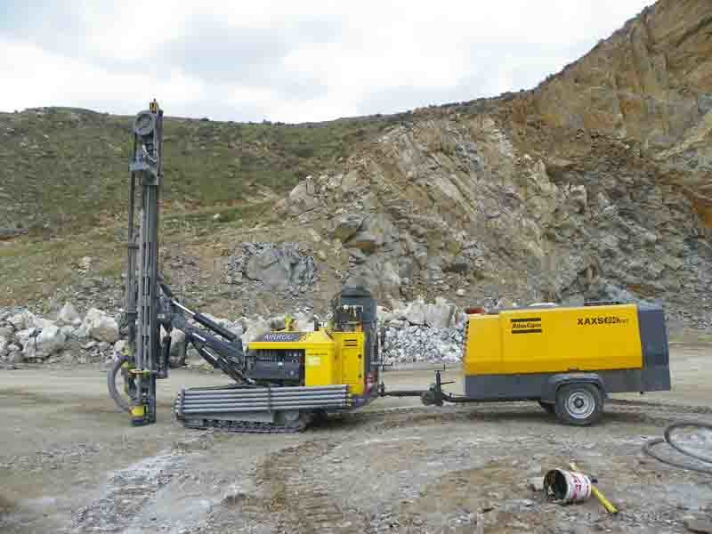 Atlas Copco 782cfm Portable Diesel Air Compressor for Mining
