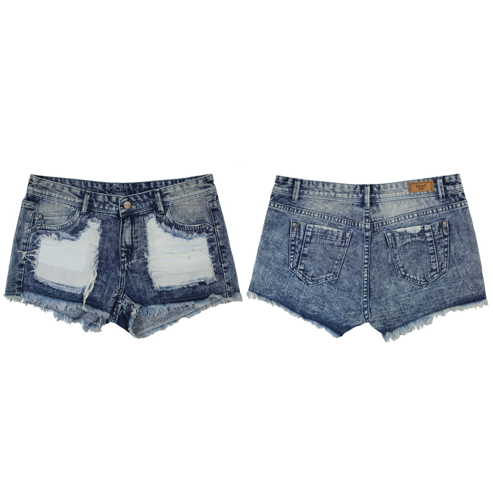 Ladeis Popular & Good Washing Wholesale Short Jeans (MY-035)