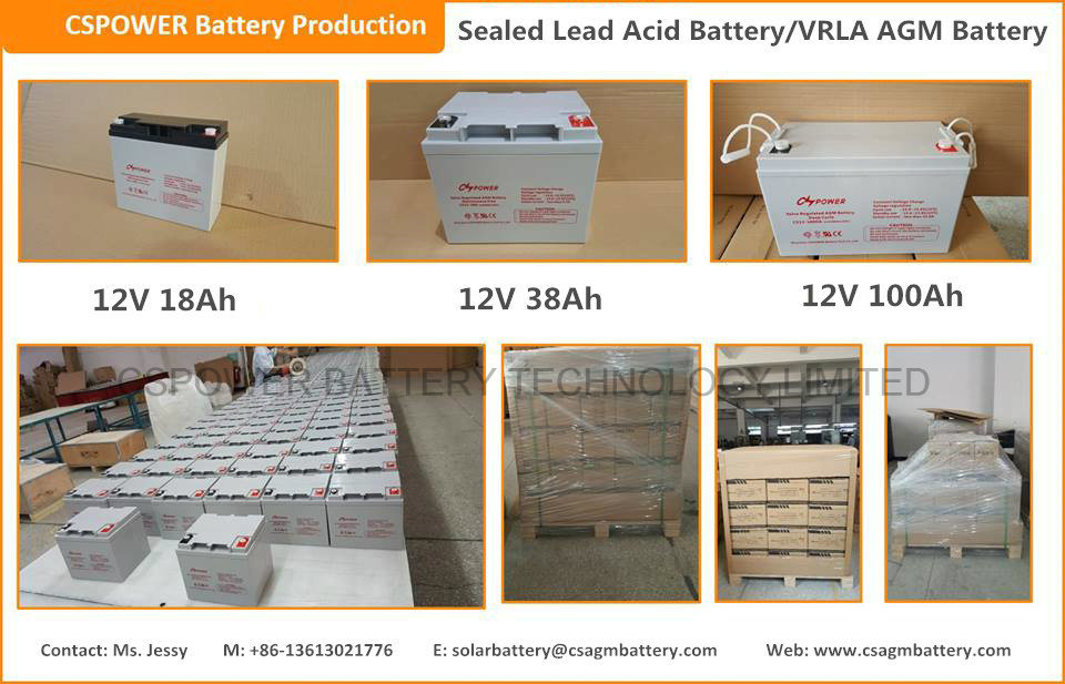 Sealed Lead Acid Batteries 12V 100ah Solar Batteries
