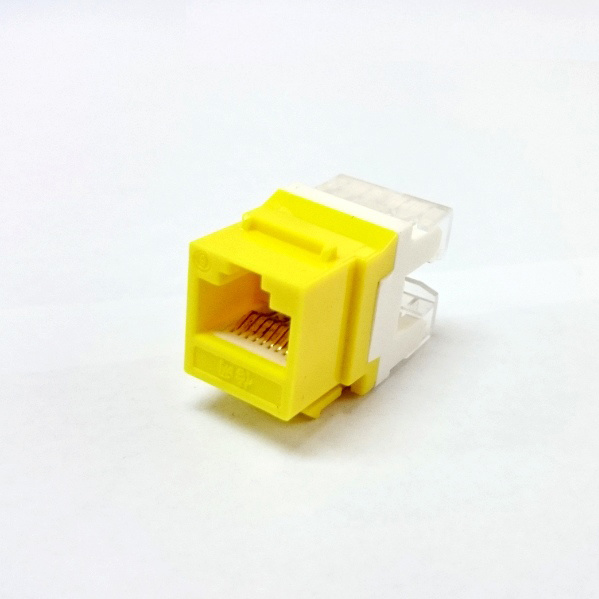 Multi-Color CAT6 RJ45 Punch-Down Keystone Jack Module Network Connector