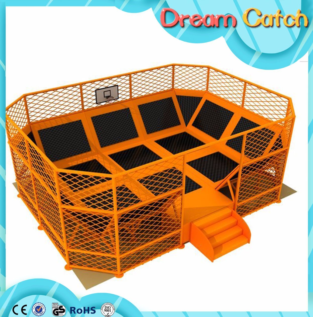2017 Arrival New Children Plastic Jungle Gym Trampoline in Factory Price