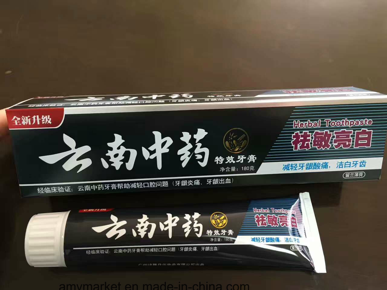 Chinese Unique Herbal Toothpaste Spearmint Minty Relieve Swelling and Pain Dental Cream for Adult 180g/PCS