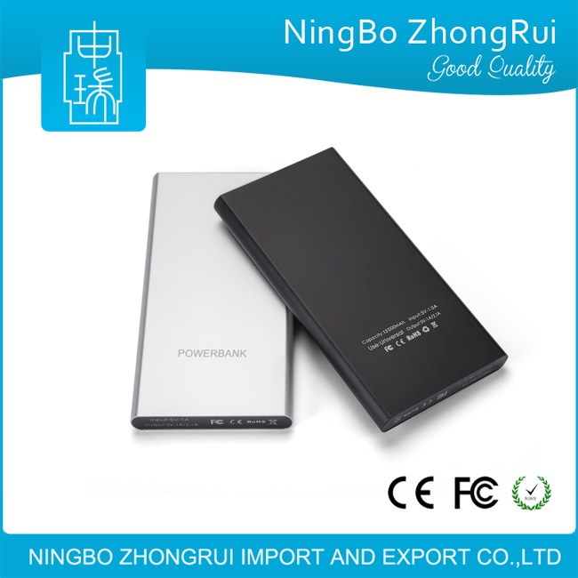 Low Price Dual USB Output Ports Emergency 2017 News 12000 mAh Portable Power Bank with Micro Input Port