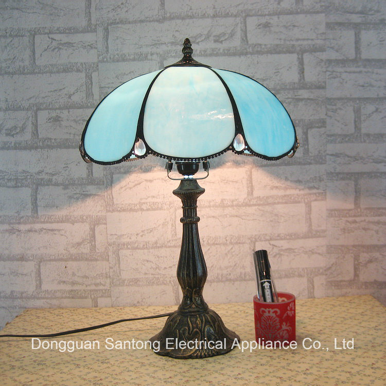 Yellow Glass Tiffany Style Resin Base Lamp Wholesale Tiffany Table Lamp