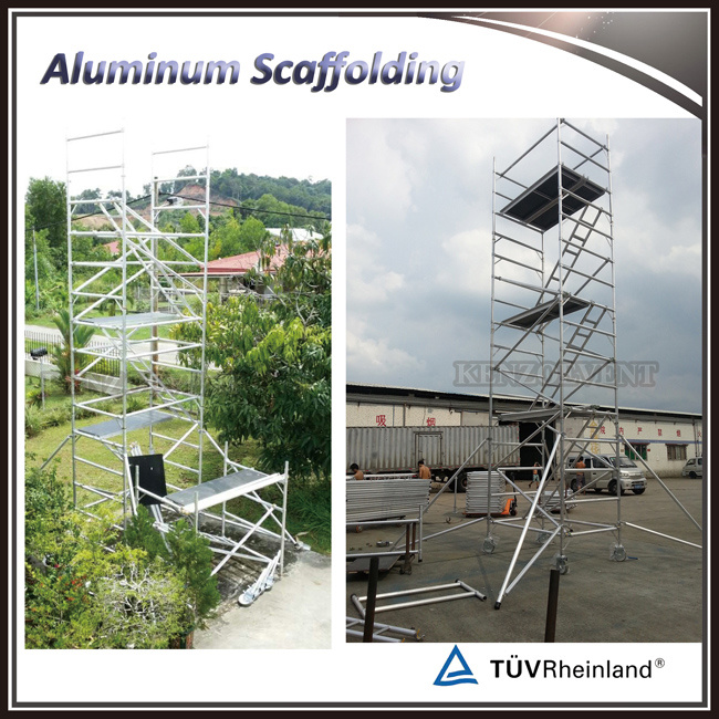 Adjustable Aluminum Mobile Scaffold Tower with Stair for Sale