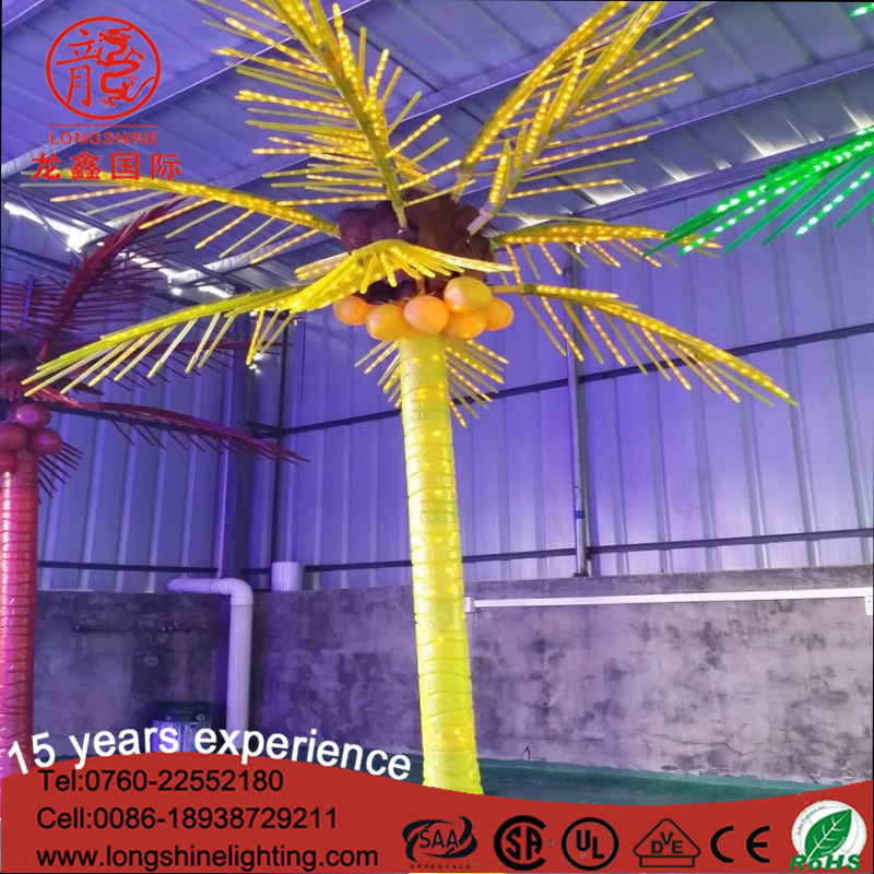 Outdoor LED Emulation Coconut Palm Tree Decoration Light for Christmas Ce RoHS