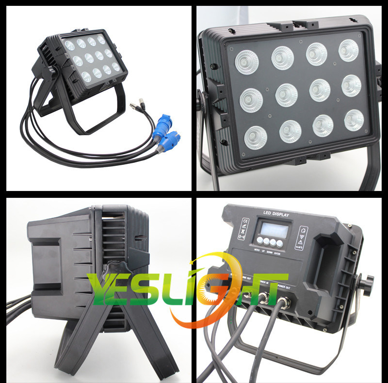 RGB LED Light 15W*12PCS COB LEDs for Outdoor Lighting IP65 Waterproof