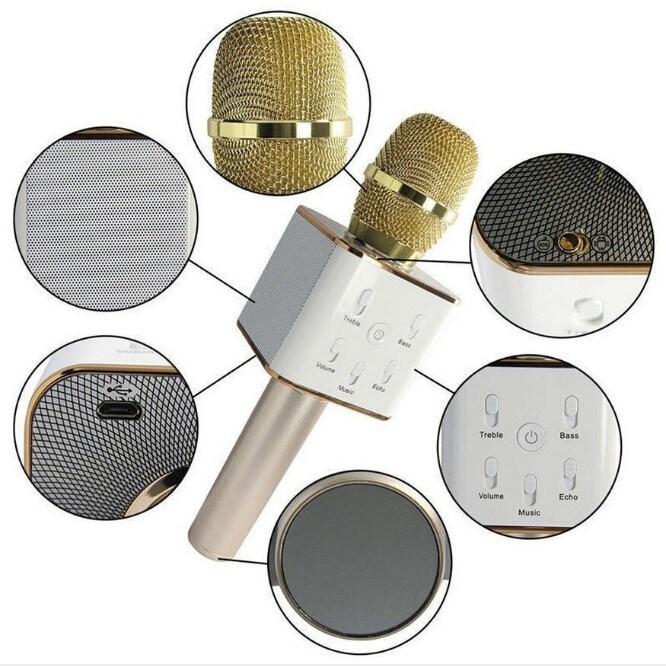 Bluetooth Loudspeaker Karaoke KTV Wireless Q7 Microphone