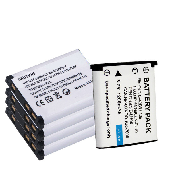 Li-42b Digital Camera Battery, for Nikon En-EL10 Enel10 for Olympus, for Pentax D-Li63 Np-45 Cnp-80 Klic-7006