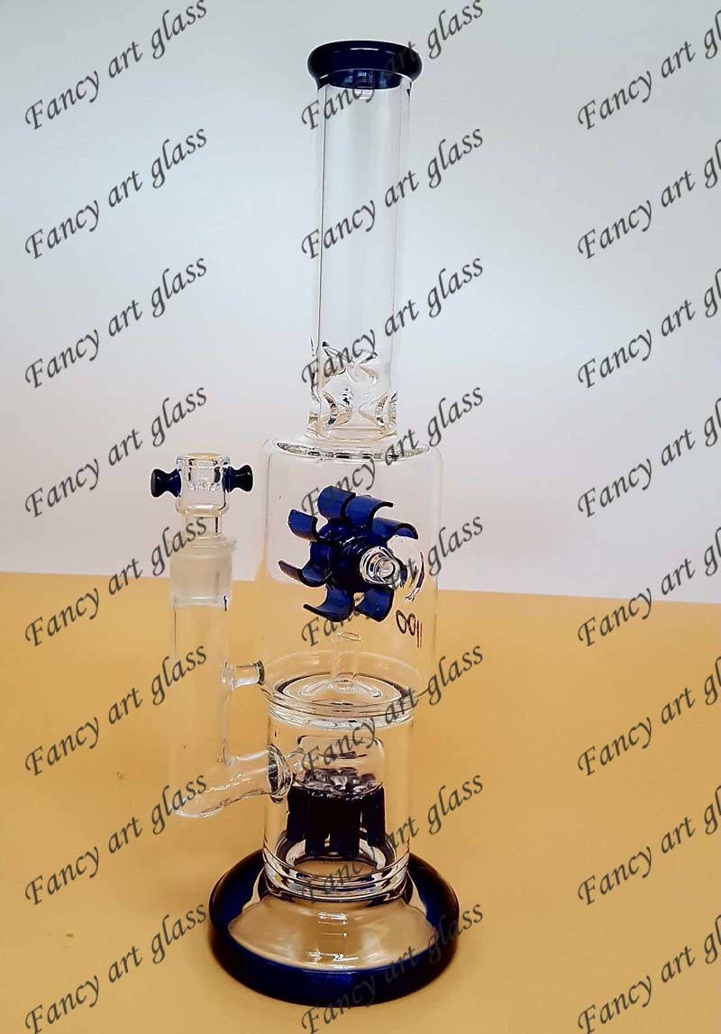 Newest Design Glass Smoking Water Pipe with Rotating Fan-Fya841