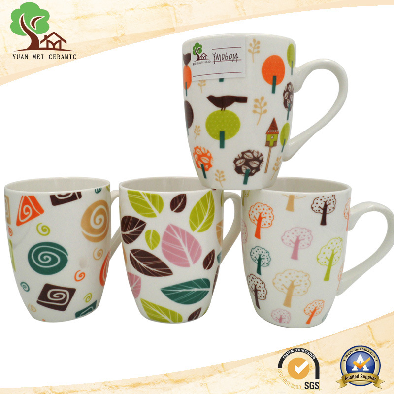 2017 New Design Shiny Colorful 13 Oz Ceramic Milk, Coffee Mug