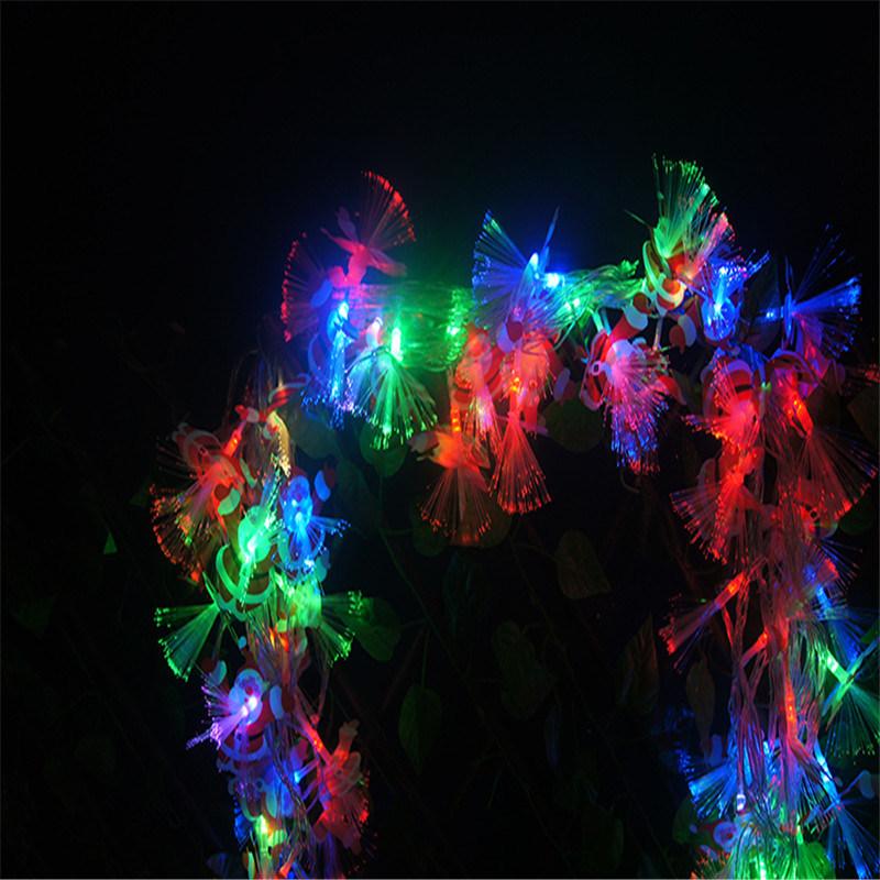 Bo Light String with Fiber Flower for Decoration