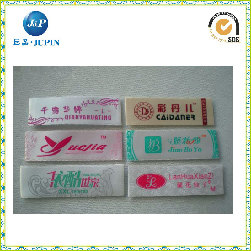 Garment Customized 100% Polyester Clothing Woven Labels (JP-CL002)