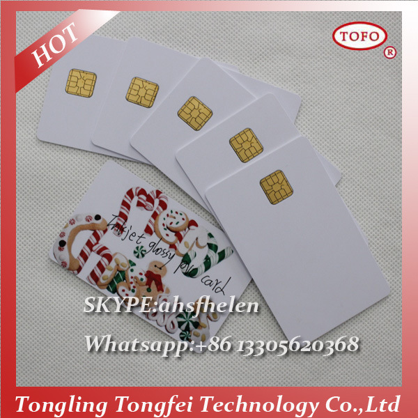 4442 Chip Blank Inkjet Printable Contact PVC Smart Card
