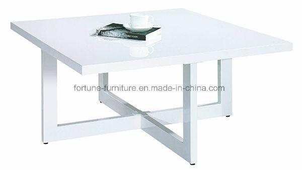 Modern Wooden UV High Gloss White Coffee Table 5902101