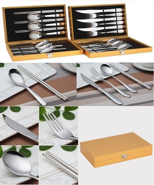 12 Piece Stainless Steel Tableware Cutlery Flatware Set (QW-0778)