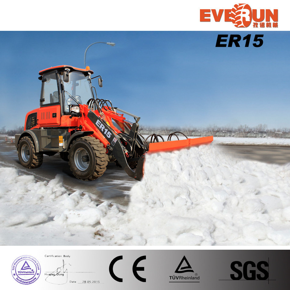 Wheel Loader Er15 Snow Blade with Euroiii Engine for Sale