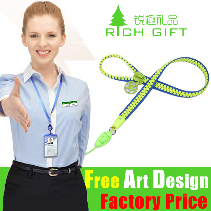 Factory Directly Price Custom Zipper Lanyard for Sale