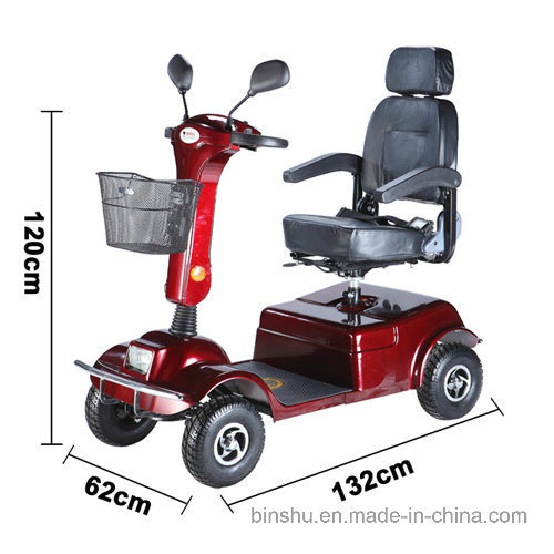 Four Wheel Magnetic Brake Electric Scooter with 400W