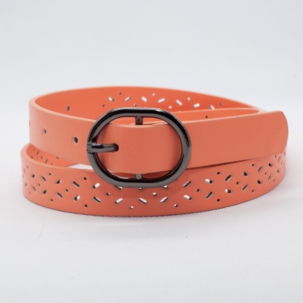 Fashion Die Cut PU Leather Belt for PU Girl (RS-131205A)