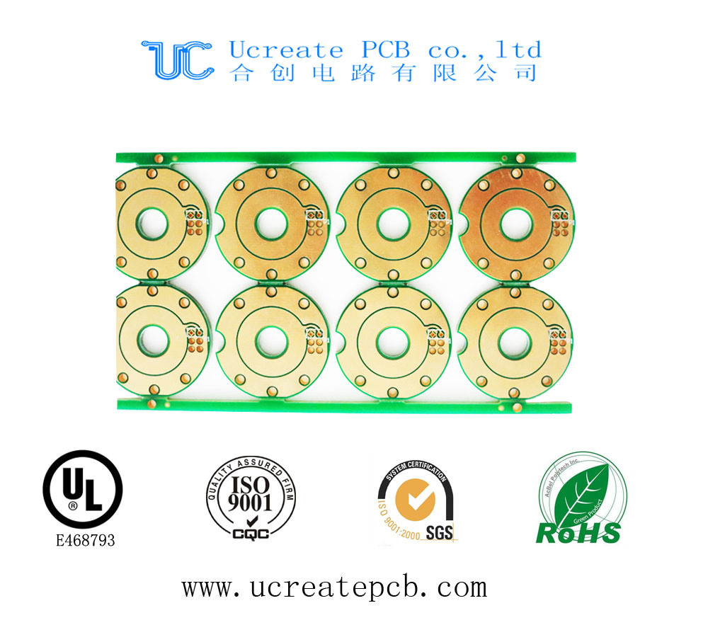 Double-Sided Thick Gold Plate PCB Board with UL