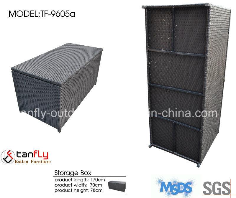 Aluminum Frame Adjustable Waterproof Outdoor Rattan Cushion Storage Box