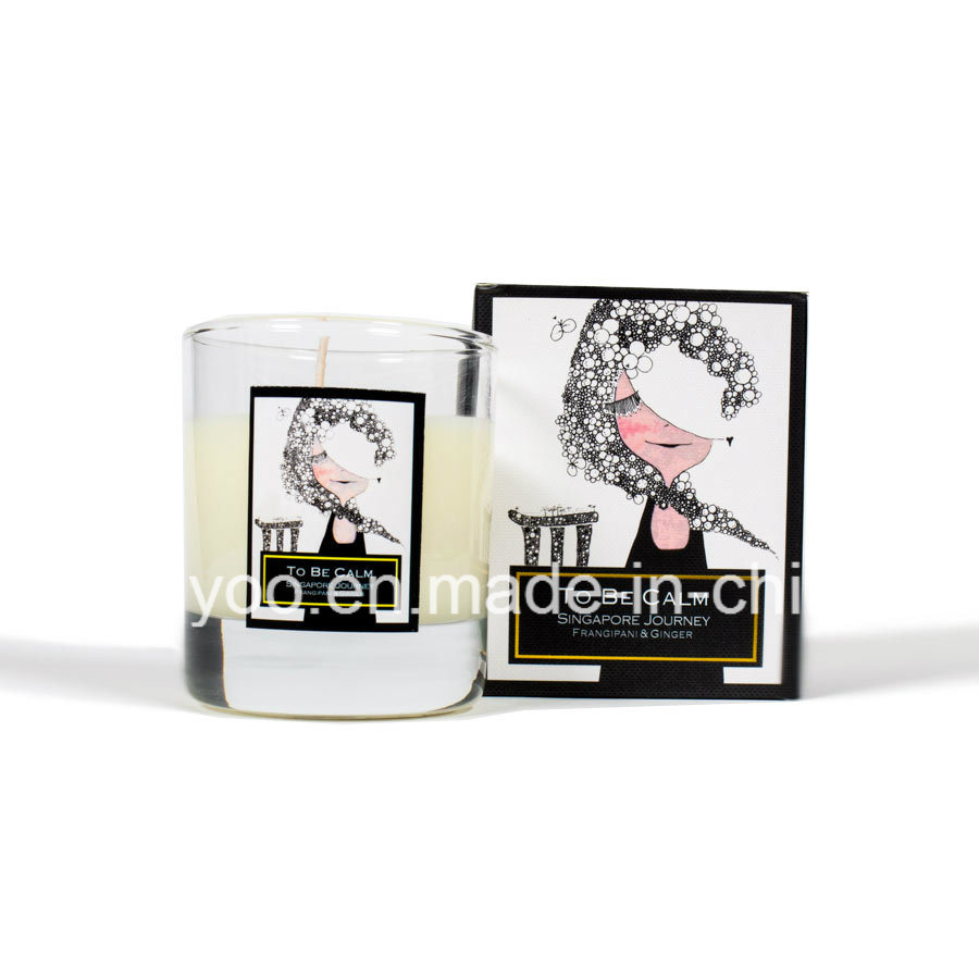 Singapore Journey Organic Soy Wax Natural Scented Glass Candle