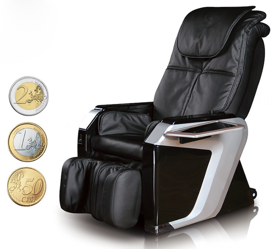 Euro Coins Operated Vending Massage Chair for Commercial Use