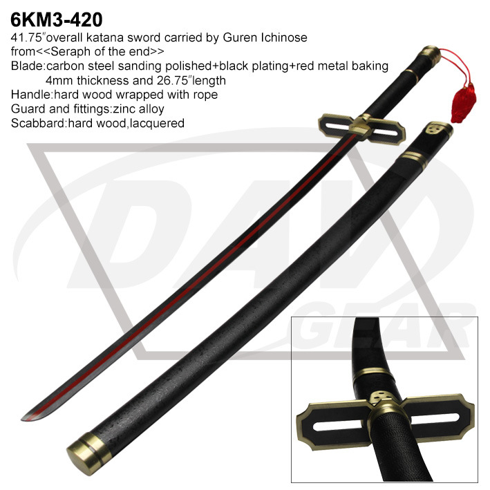 """41.75""""Carbon Steel Katana Sword From <Seraph of The End> (6KM3-420)"""