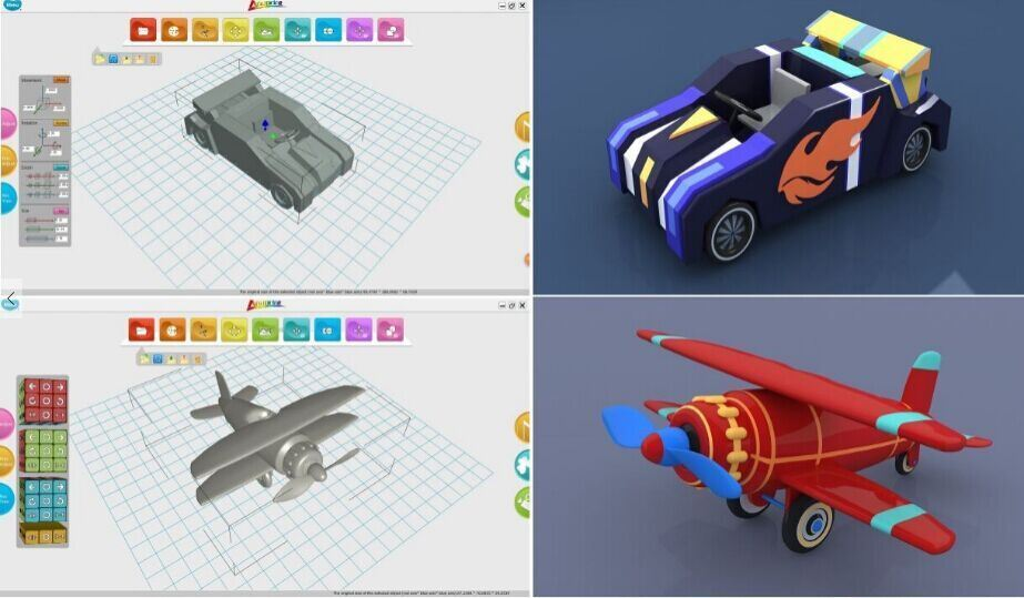 Happyuni Modelling Software for Kids, Teenage 3D Printing Training