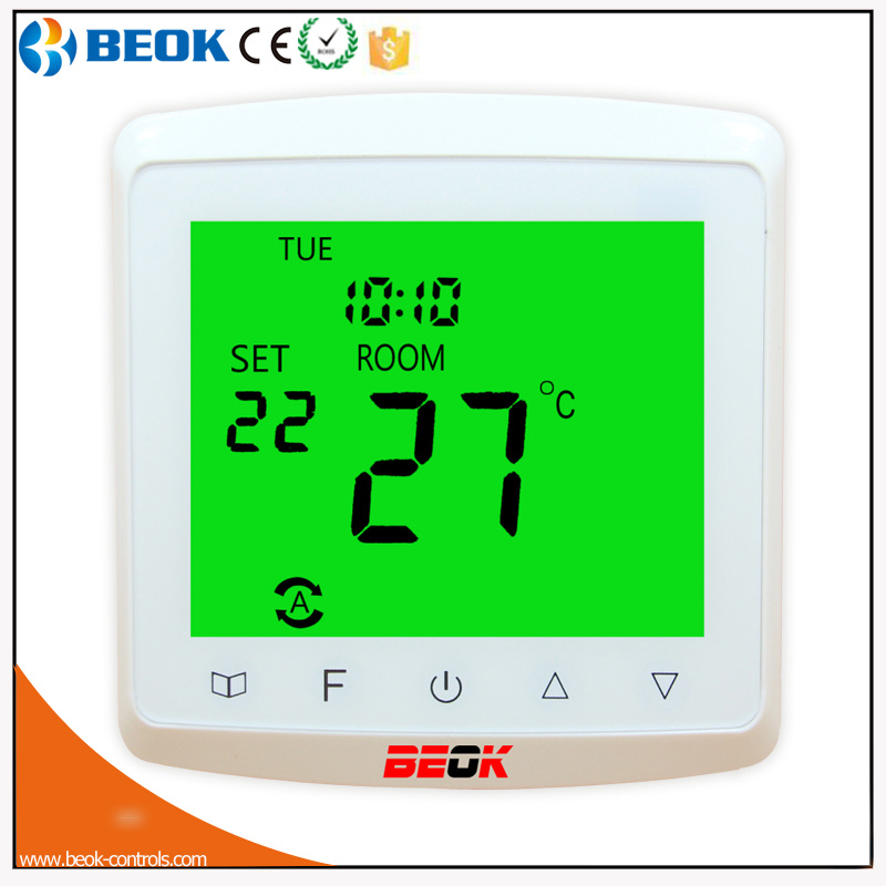 Green Backlight Weekly Programming Room Thermostat for Heating Cable