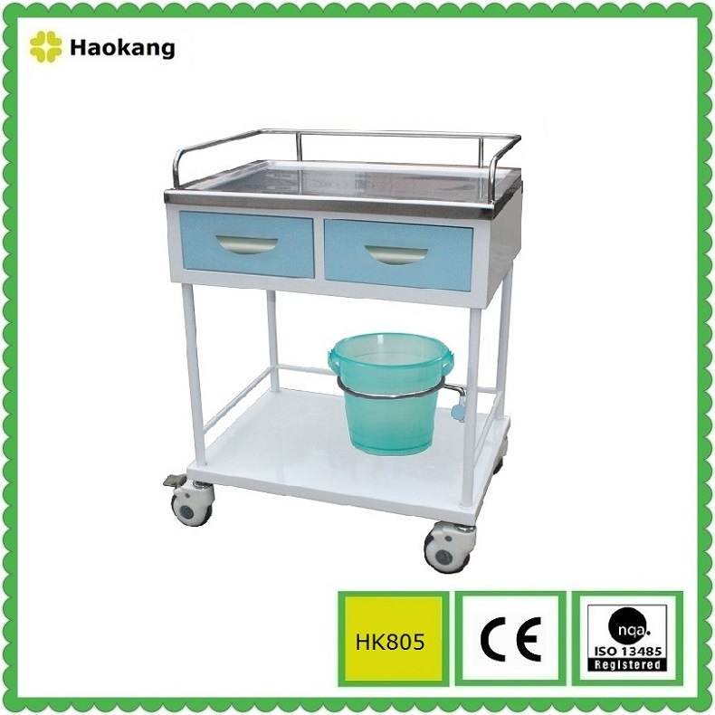 Hospital Furniture for Medical Treatment Trolley (HK805B)