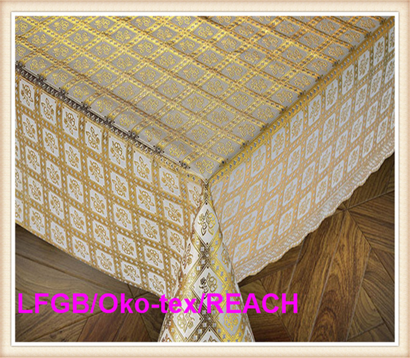 PVC Lace Coffee Table Cloth on Roll Factory Hot Sale