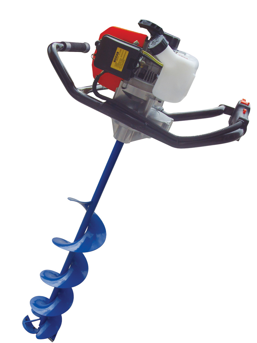 60cc Gas Powered Fishing Ice Drill Frozen Earth Auger