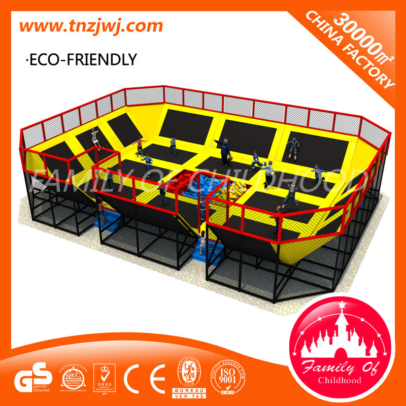 Big Rectangular Trampolines Jumping Trampoline Park for Toddlers
