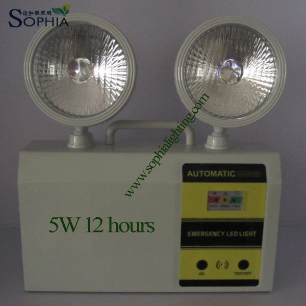 Twin Head LED Emergency Lighting with Lead Acid Battery