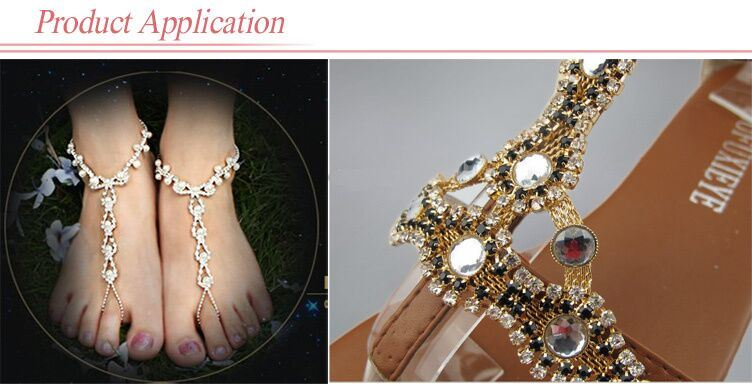 Cup Chain Glass Beads Chaton for Sandal