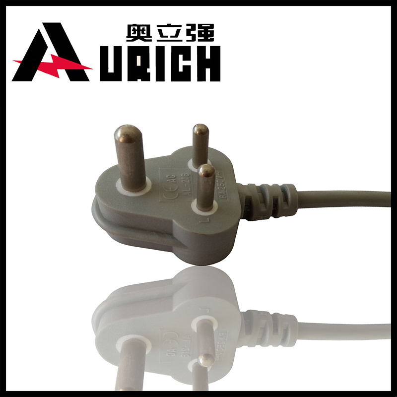 South Africa India Power Cord 5A 10A 250V Power Plug