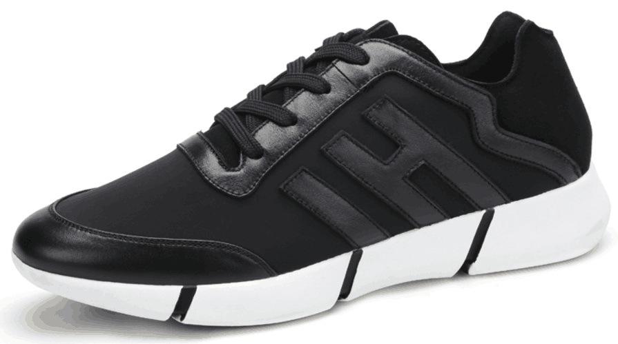 Leather Mesh Men′s Fashion Shoes (SP-022)