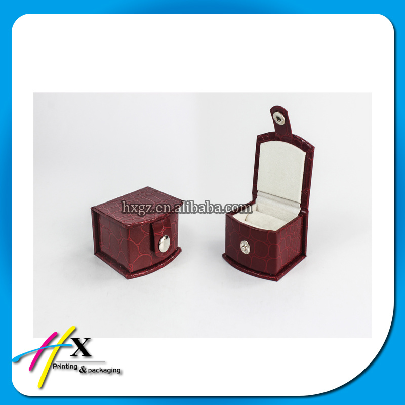 Fancy Red Leatherette Jewelry display Box Set with Butom Lock