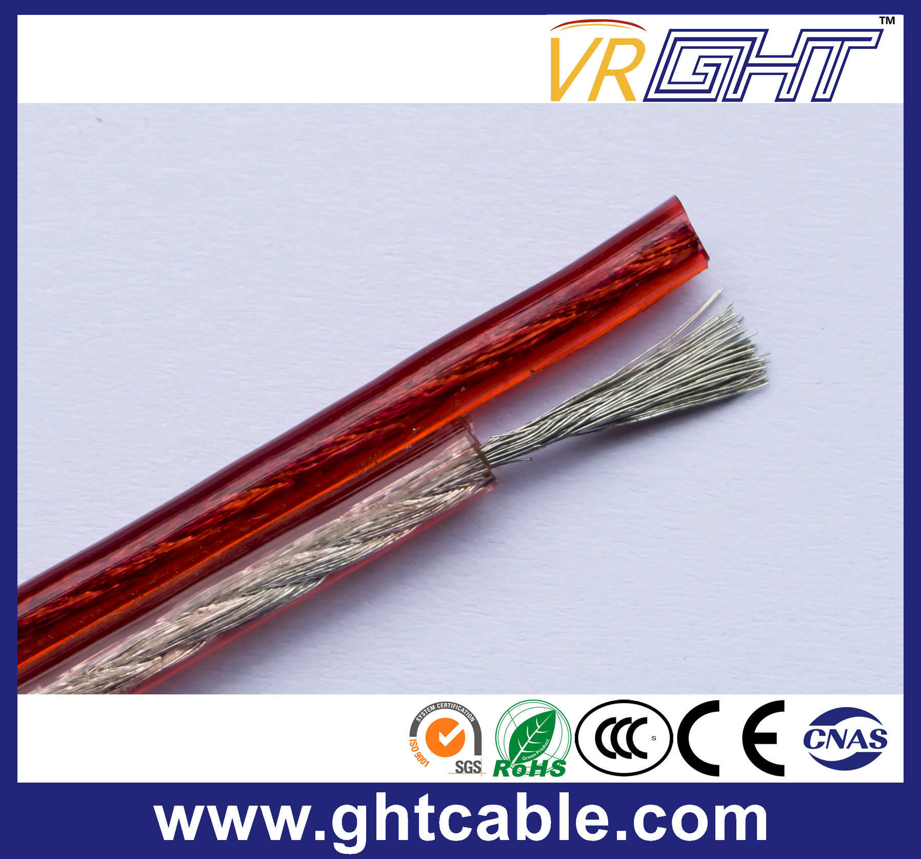 Transparent Flexible Speaker Cable (2X0.5mmsq CCA Conductor)